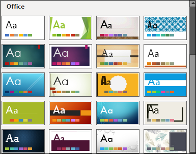 Office theme library