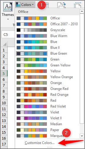 Creating your own colour theme