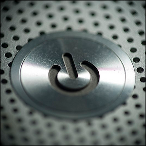 The multi-state power button from a 2007-era MacBook Pro