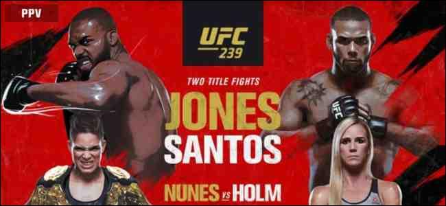 Jones vs. Santos main fight card