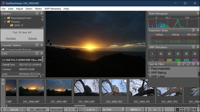 FastRawViewer sample view