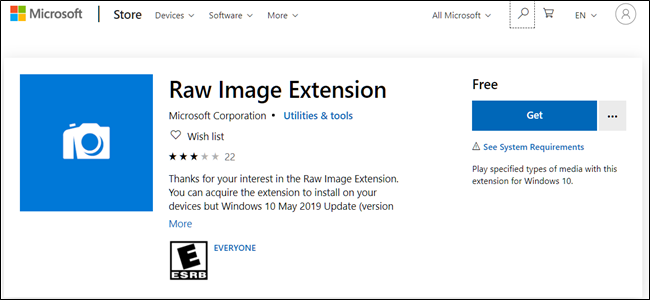 RAW Image Extension Logo