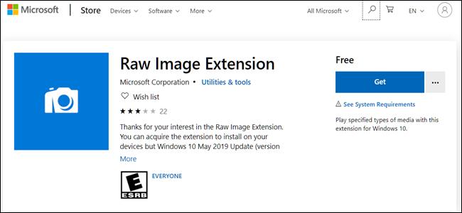 RAW Image Extension Logo