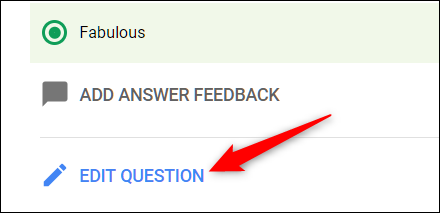 Save your changes when you click Edit Question