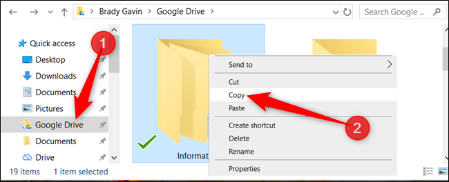 """Right-click the folder you want to copy, and then click """"Copy."""""""