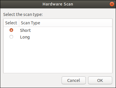 """List dialog box with the """"Short"""" option selected."""