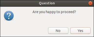 zenity question dialog.