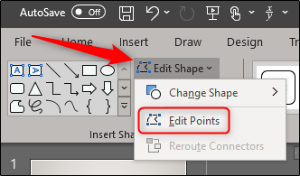 Edit points of a freeform shape