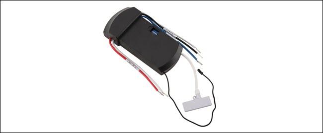 A Z-wave smart fan module.
