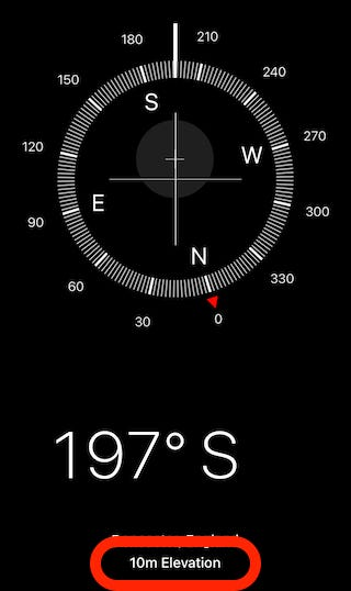 Open the Compass app