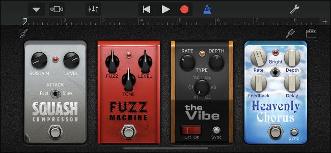 Cadena de pedal de efecto GarageBand en iPhone
