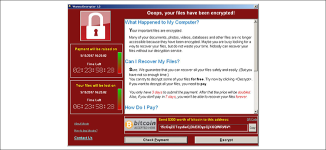El ransomware Wanna Cry.