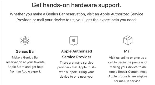 Make a Genius Bar or Authorized Service Center Appointment