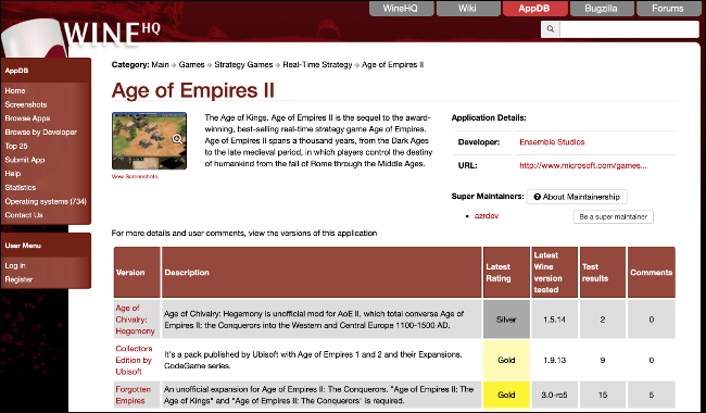 Age of Empires II Playable Status on WineHQ