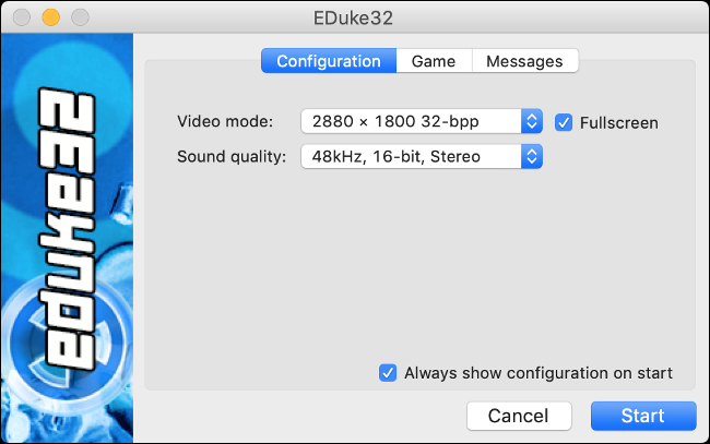 eDuke32 Launcher for playing Duke Nukem 3D