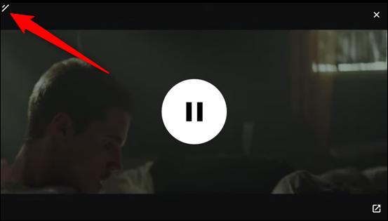 Click-and-drag the top left corner to resize the PiP window
