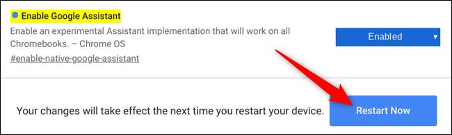 "Click ""Restart Now."""