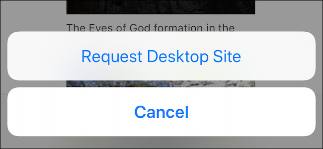 How to View Desktop Site in Mobile Safari