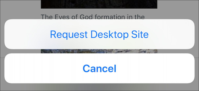 How to View Desktop Site in Mobile Safari