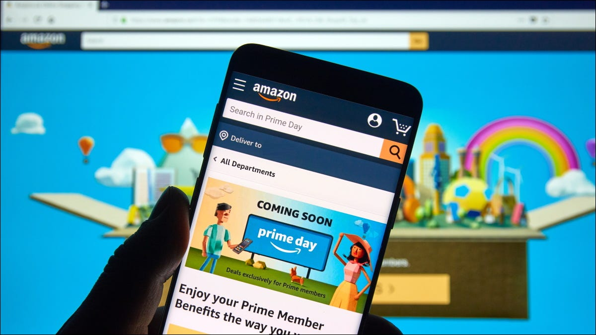 An Amazon Prime promotion displayed on a smartphone.