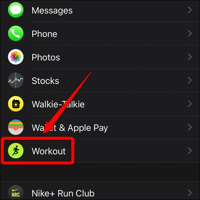 Apple iPhone Apple My Watch Menu