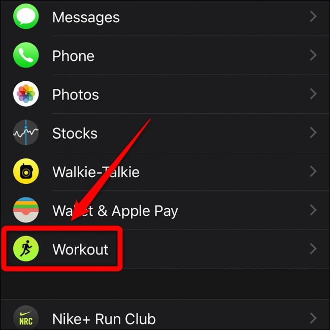 Apple iPhone Apple My Watch Menu