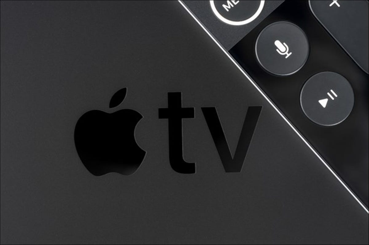 Apple TV Logo with Remote