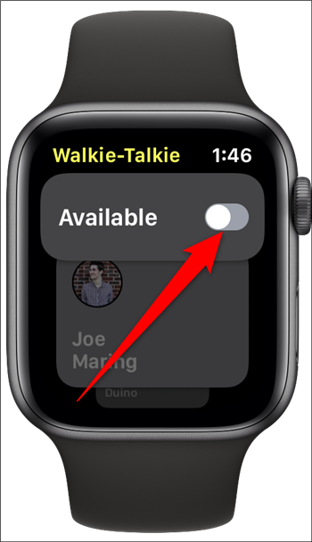 Apple Watch Walkie Talkie Toggle Off