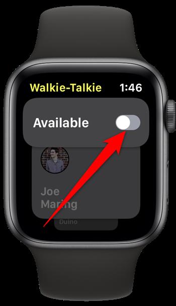Apple Watch Walkie Talkie Toggle Off