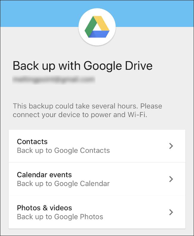 La aplicación Google Drive para iPhone.