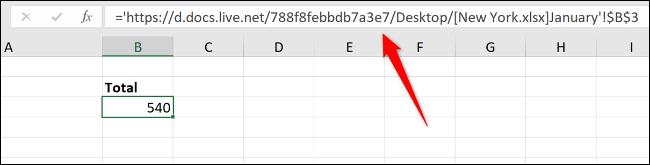 Full file path of workbook in the formula