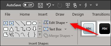 edit shape in insert shape group