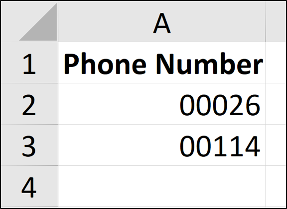 Fixed length number formats