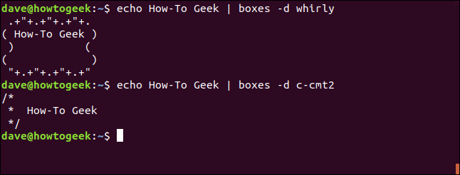 """""""echo How-To Geek 