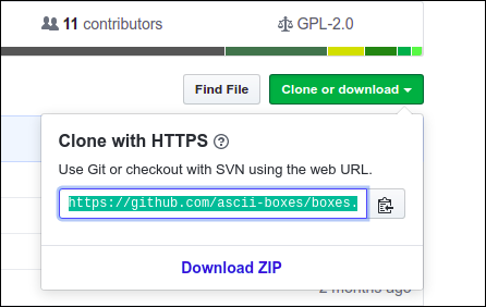 """The """"Clone or Download"""" button in GitHub."""