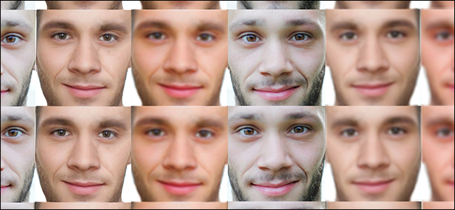 A dataset of men's faces.