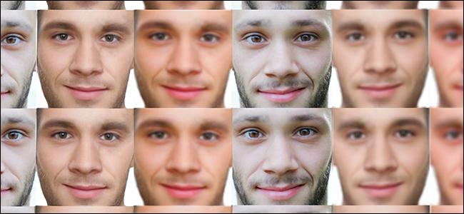 A dataset of men's faces.