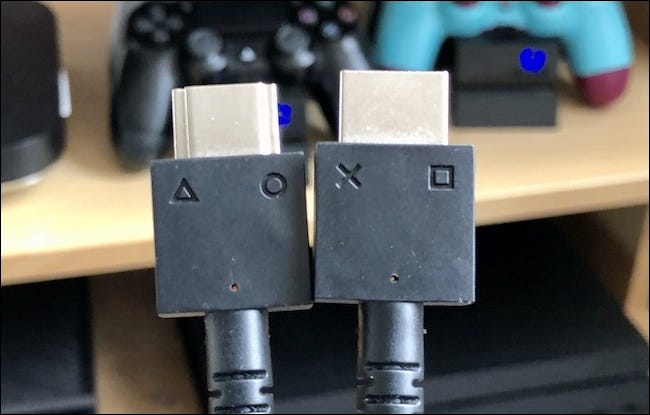 The two PSVR headset cables.