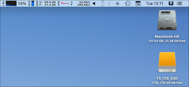 A full menu bar on a Mac.