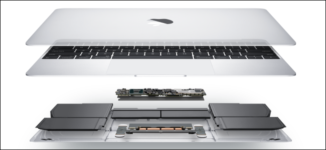 The internals of a MacBook