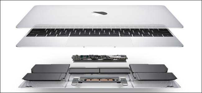 The internals of a MacBook