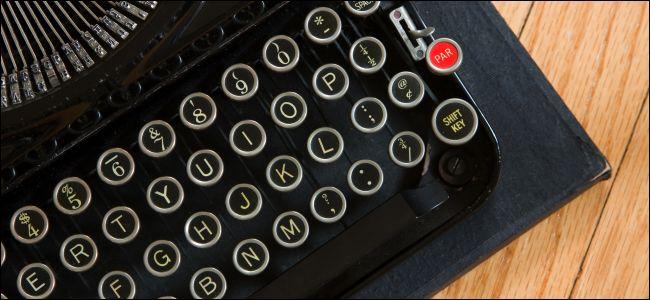 Typewriter for teletype