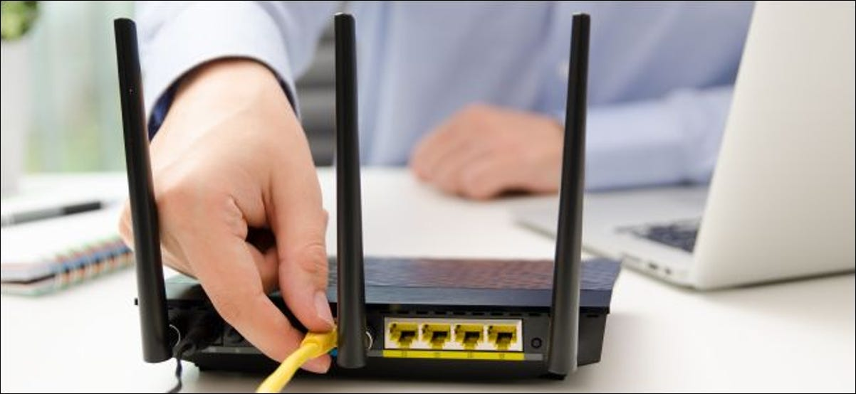 Unplugging an Ethernet cable from a Wi-Fi router