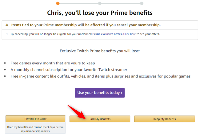 Amazon's Prime cancellation wizard