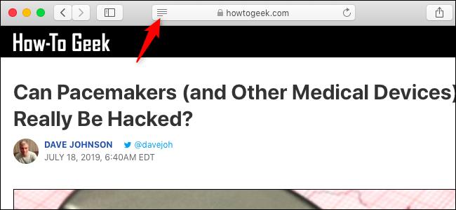 "Click the ""Reader"" icon."
