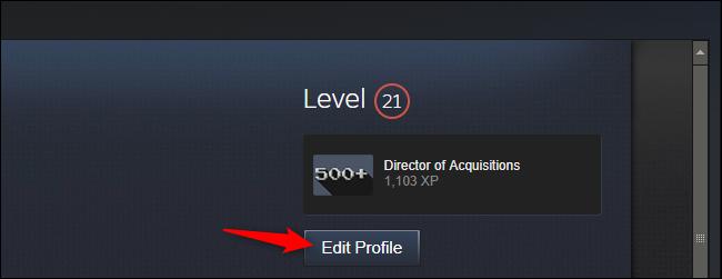 Editando su perfil en Steam