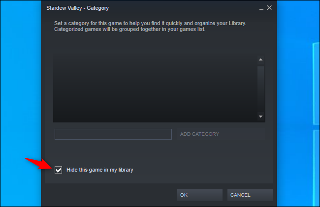Hiding a game from your Steam library