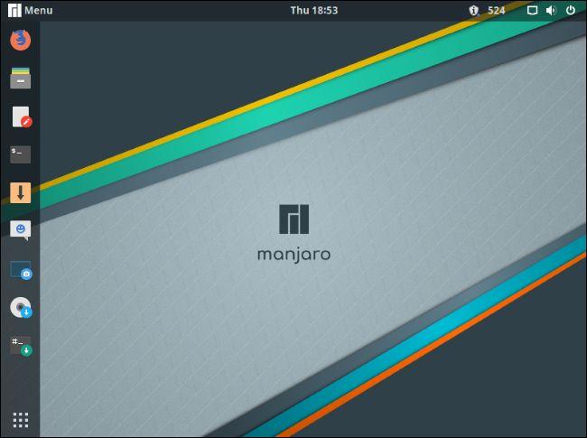 Manjaro GNOME desktop.