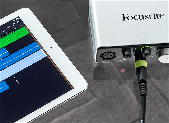 Focusrite iTrack Solo with iPad