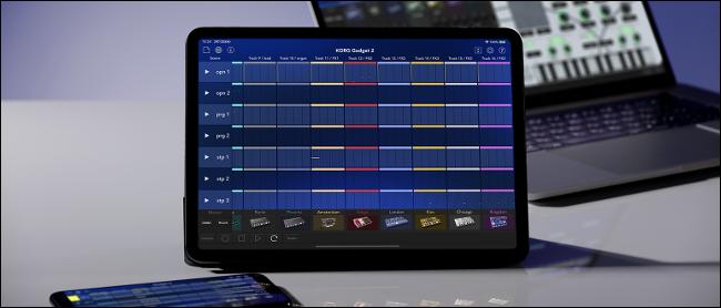 KORG Gadget Running on an iPad Pro